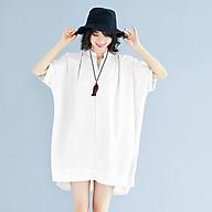 Plus fat plus size women s chiffon dress was thin, 200 kg fat mm summer dress loose V-neck cover belly shirt thumbnail