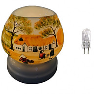 Combo Đèn xông tinh dầu điện tam giác TG07 và 1 bóng đèn thumbnail