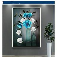 Tranh thêu chữ thập Bình Hoa Trong Gió (45 60cm) chưa thêu thumbnail