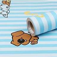 Cuộn 5m Decal Giấy Dán Tường Chó snoopy xanh dương (5m dài x 0.45m rộng) thumbnail