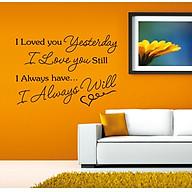 Decal dán tường I love you ( 80 x 115 cm) thumbnail