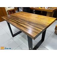 Bàn ăn gỗ me tây 4 ghế dài 1,2m x 72cm x 5cm thumbnail