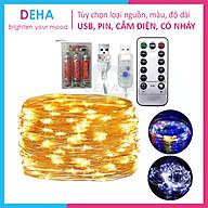 Dây đèn led đom đóm trang trí pin, USB, cắm điện, nhấp nháy, 20M, 10M, 5M, 3M, 2M, 1M decor giáng sinh, noel, phòng cắm trại - Chính hãng DEHA thumbnail