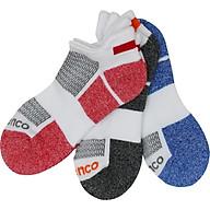 Combo 3 đôi vớ nữ thể thao Spenco Mart màu đỏ, đen, xanh, vớ mắt cá chân dùng chơi thể thao, đi lại hàng ngày thumbnail