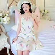 Đầm 2 dây mặc nhà,đồ ngủ họa tiết Haint Boutique Vn16 thumbnail