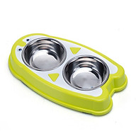 Bát đôi inox đựng thức ăn nước uống cho chó mèo - Hình chim cánh cụt dễ thương thumbnail