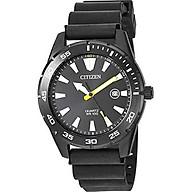 Citizen Men s Stainless Steel Japanese Quartz Polyurethane Strap, Black, 22 Casual Watch (Model BI1045-13E) thumbnail