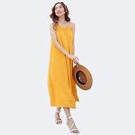 Đầm Maxi Nữ 2 Dây Vải Lụa Trơn 4 Màu, Thích hợp đi làm, du lịch, dã ngoại, sinh hoạt ngoài trời - 3405 thumbnail