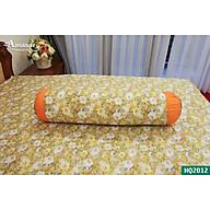 Vỏ gối Ôm Amanda Flora HQ2012 phối màu cam hoa trà my thumbnail