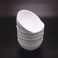 Bộ 6 bát ăn cơm trắng trơn cao cấp thumbnail
