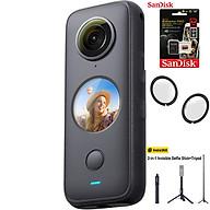 Máy quay Insta360 ONE X2 kèm Thẻ nhớ 64GB + Lens guard + Tripod Insta360 2-in-1 - Hàng chính hãng thumbnail