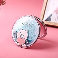 Gương Mini Hai Mặt Họa Tiết Kim Tuyến Lấp Lánh - GU31 (Giao ngẫu nhiên mẫu) thumbnail