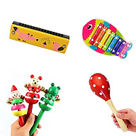 Combo 4 món đồ chơi nhạc cụ gỗ vui nhộn cho bé thumbnail