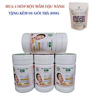 Combo 4 Hộp Bột Mầm Đậu Nành X5 Có Bổ Sung Collagen, Betaglucan (Tặng trà mầm ngũ cốc X5 -300gr) thumbnail