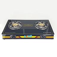 Bếp ga đôi Raiden đầu đốt đồng, mặt kính cường lực, hệ thống đánh lửa magneto-hàng chính hãng thumbnail
