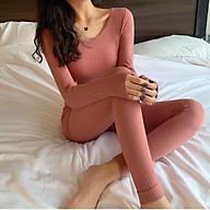 Bộ nhiệt len tăm đẹp, đanh, dai, mềm, co giãn tốt, vải đẹp thumbnail