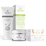 Bộ sản phẩm dưỡng trắng da mặt Truesky VIP07 gồm 1 sữa rửa mặt trắng da 60ml và 1 kem dưỡng trắng da mặt 10g thumbnail