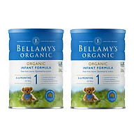 2 Lon Sữa Bột Bellamy s Organic Số 1 (900g) thumbnail