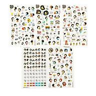 Bộ 6 tấm sticker trang trí nhật ký cuộc sống Cookys girl and Momoi thumbnail