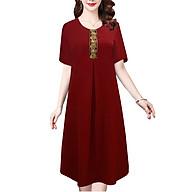 Đầm Suông Tuôi Trung NIên Nữ Đẹp Đính Thêu Họa Tiết Kiểu Đầm Dự Tiệc Trung Niên Cho Người Mập Từ 53-78Kg ROMI 3319 thumbnail