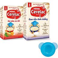 2 Hộp Bột Ăn Dặm Nestlé CERELAC Gạo Lức Trộn Sữa Và Gà Hầm Cà Rốt - Tặng Bộ Chén Ăn Dặm Màu Ngẫu Nhiên thumbnail