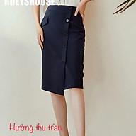 Chân váy công sở dáng suông phối nút trẻ trung thumbnail