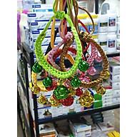 Vòng cổ dây tết 5 chuông dành cho thú cưng - Giao màu ngẫu nhiên thumbnail