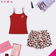 Combo áo thun hai dây VERA in họa tiết quần short kate in 0313 9407 thumbnail