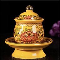 Cốc cúng nước thờ mẫu hoa sen gấm - TL220 thumbnail