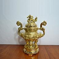 Đỉnh rồng đúc đồng vàng nguyên khối hàng cao cấp thumbnail