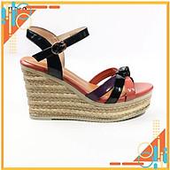 Dép sandal nữ đế xuồng-da bóng cực sang, kiểu dáng sang chảnh kết hợp đế xuồng cực bắt mắt mẫu mới 2021 (SDN76) thumbnail