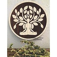 Tranh Gỗ Decor Gỗ Bồ Đề Tỉnh Thức Treo Tường Trang Trí Phòng Thiền, Phòng Tập Yoga thumbnail