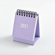 Lịch Để Bàn Mini 2021 Màu Pastel Size 7x10cm Dùng Decor Bàn Làm Việc thumbnail