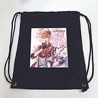 Balo dây rút đen in hình GENSHIN IMPACT anime chibi M3 túi rút đi học xinh xắn thời trang thumbnail