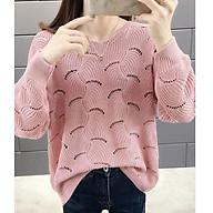 Áo len mỏng nữ rệt lỗ trẻ trung ArcticHunter, thời trang thu đông, thương hiệu chính hãng thumbnail