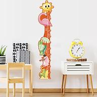 Decal dán tường đo chiều cao cho bé Ông mặt trời Hồng hạc 1,7m thumbnail