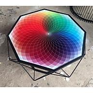 Bàn trà, bàn sofa phòng khách mặt kính cường lực cao cấp hiện đại - BT026 thumbnail