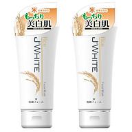 Combo 2 Tuýp Sữa Rửa Mặt Trắng Sáng Da, Giảm Nhăn Tinh Chất Mầm Gạo Nhật Bản J WHITE 160G thumbnail