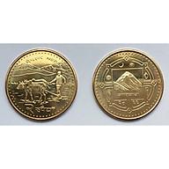 Đồng Xu Nepal Hình Con Trâu + Kèm Túi Nhung Đỏ May Mắn [Có Hộp Mica Trong Bảo Quản Xu] thumbnail