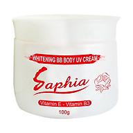Kem dưỡng trắng và trang điểm da toàn thân 100gr - Saphia Whitening BB Body Cream thumbnail