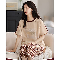 Đồ bộ mặc nhà , đồ bộ lửng nữ cotton mùa hè dễ thương 2164 thumbnail