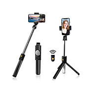 Gậy chụp hình 3 chân có bluetooth Selfiecom K10 chụp ảnh selfie tự sướng bằng remote, kẹp xoay 360 độ - Hàng chính hãng thumbnail
