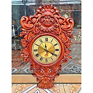 Đồng hồ hoa lá tây độc đáo gỗ hương hàng đẹp thumbnail