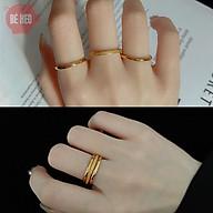 Set 3 nhẫn titan - Nhẫn nữ mảnh - Trang sức bé Heo BHN116 thumbnail