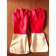 Combo 5 đôi găng tay gia dụng se viền - găng tay 2 màu thumbnail