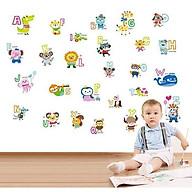 Decal dán tường bảng chữ cái thú tiếng anh thumbnail
