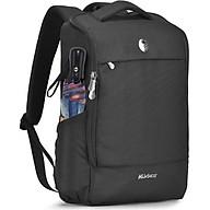 Balo laptop 15.6 inch Mikkor Lewie Backpack Black thumbnail