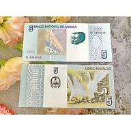 Tiền cố Angola 5 Kwanzas hình thác nước , tiền quốc gia châu Phi , mới 100% UNC, tặng túi nilon bảo quản thumbnail