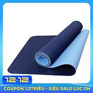 Thảm Tập Yoga Eco Friendly TPE - Xanh Dương Đậm (6mm) thumbnail