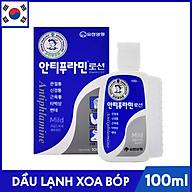 Dầu Lạnh Xoa Bóp Massage Hàn Quốc Antiphlamine Mild màu xanh - Đau nhức cơ thể, giúp da mềm mại - Chai 100ml thumbnail